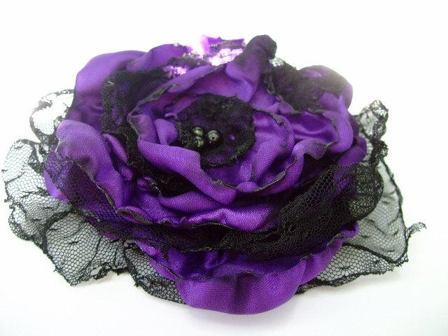 Hochzeit - Purple Flower accessory, Wedding Hair flower, Maternity Sash, Bridal Sash
