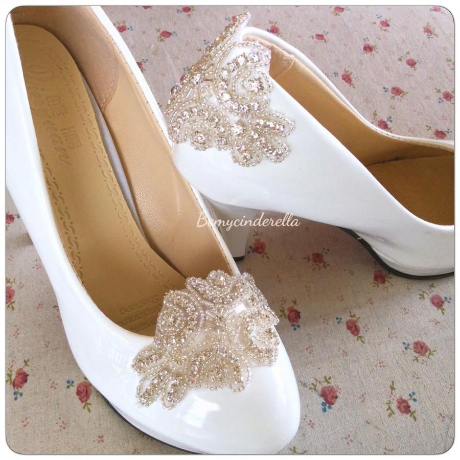Hochzeit - Rhinestone Bridal shoes clips rhinestone wedding shoes clips Rhinestone shoes clips