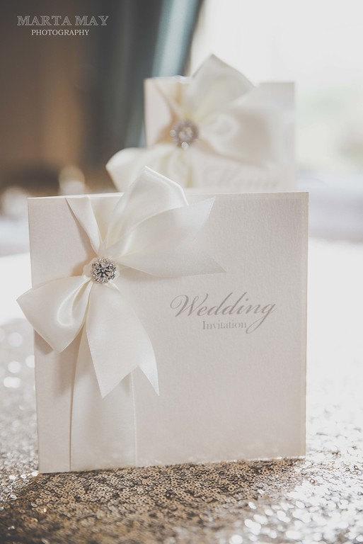 Hochzeit - Luxury Satin Ribbon Wedding Invitations/Stationery