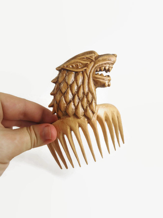 Game of Thrones Hair stick comb pin Direwolf Stark Anniversary gift for her  Womens Mother girlfriend Wife gift ideas wooden hair accessories 8020b63032