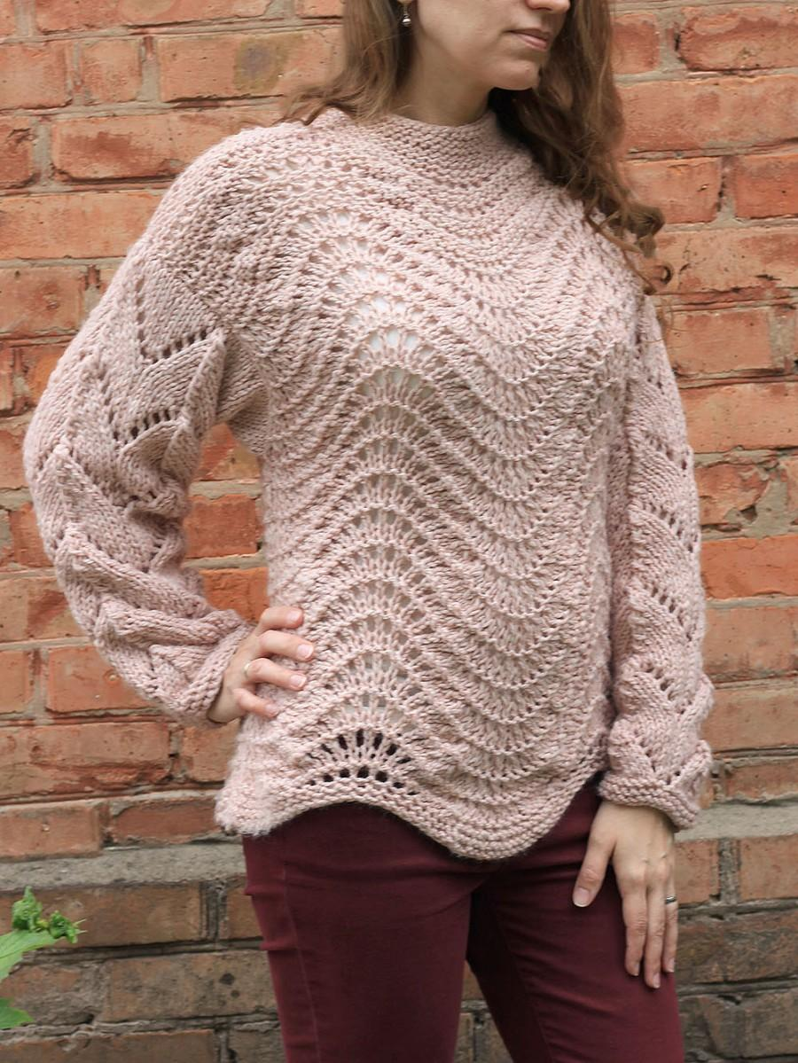 Hand Knit Sweater Women Beige Sweater Oversize Knit Sweater ...