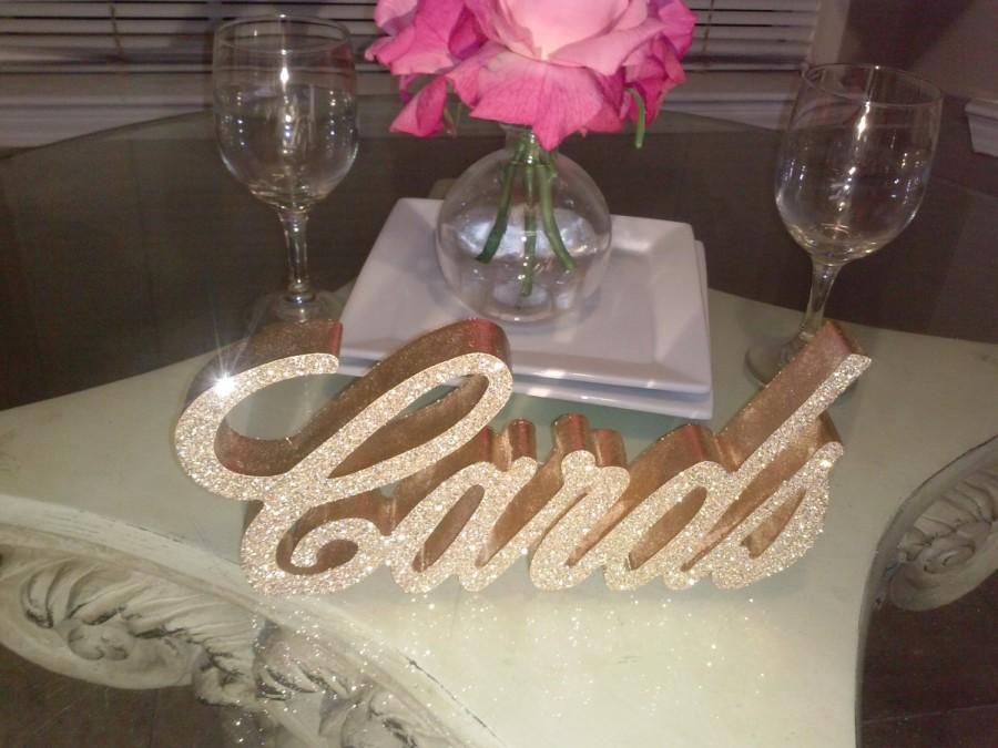 Свадьба - Glittered Cards sign