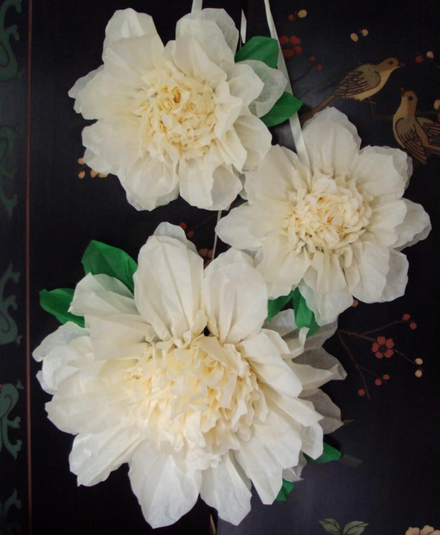Свадьба - Set of 3 Giant Paper Flowers (Vanilla)- Perfect Decorations for Wedding,Birthday Party&Baby Shower