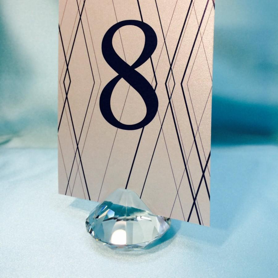 2x2 clear crystal diamond table number holder wedding favor 2x2 clear crystal diamond table number holder wedding favor place card menu and business card holders colourmoves