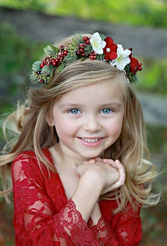 Flower Crown - Christmas Halo- Wedding -