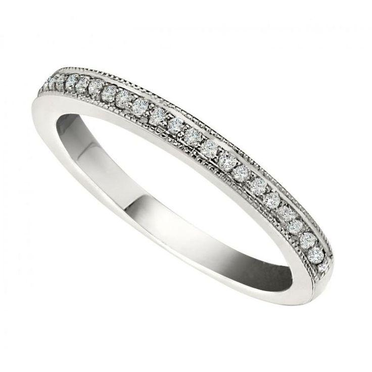 Mariage - RD PAVE D=.15CTW 14KW MILIGRAIN WED BAND