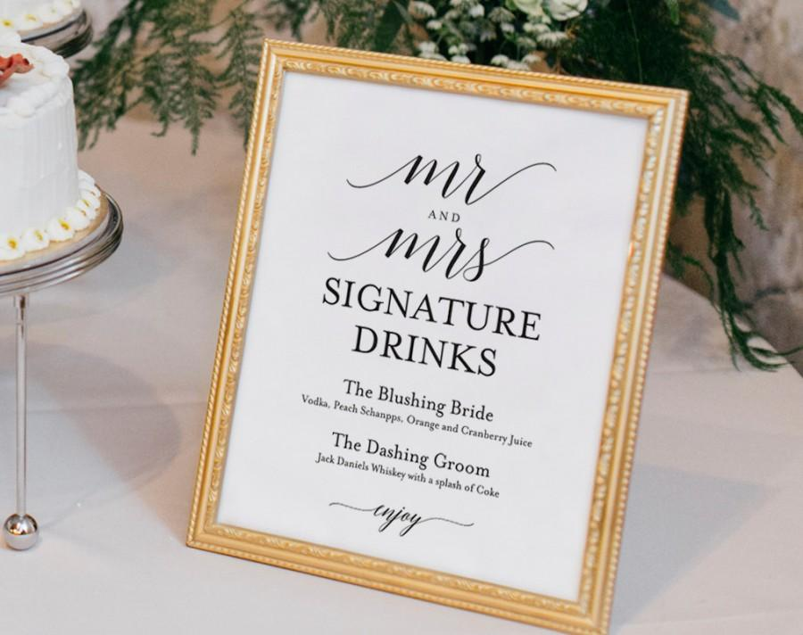Signature drinks printable signature drinks sign signature signature drinks printable signature drinks sign signature cocktails bar sign wedding printable sign pdf instant download junglespirit