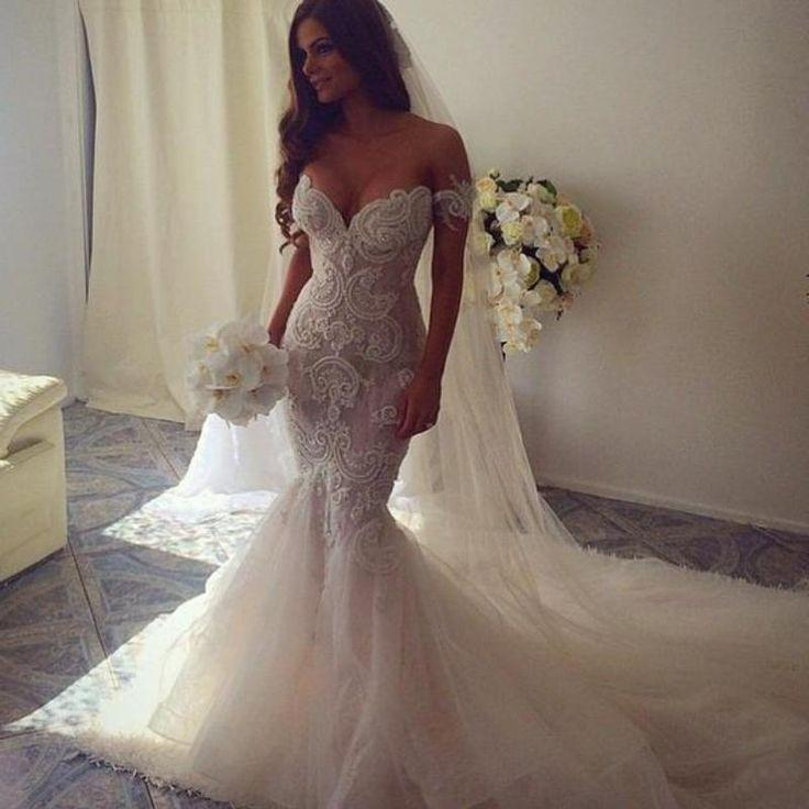 2016 new spring luxury beaded trumpet mermaid wedding