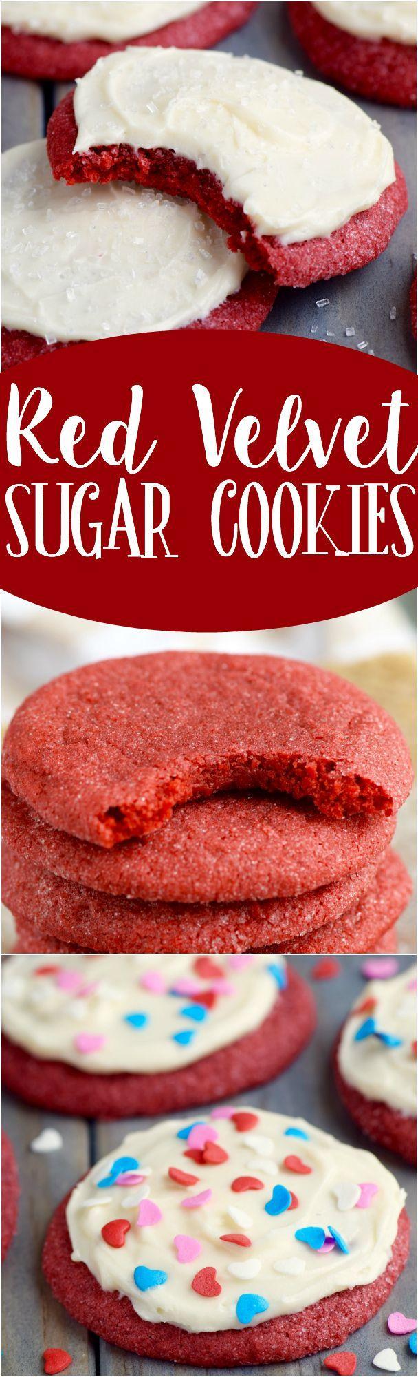 Свадьба - Red Velvet Sugar Cookies
