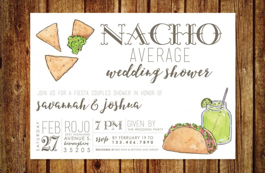 Hochzeit - Nacho Average Wedding Shower Invitation - Fiesta Wedding Shower