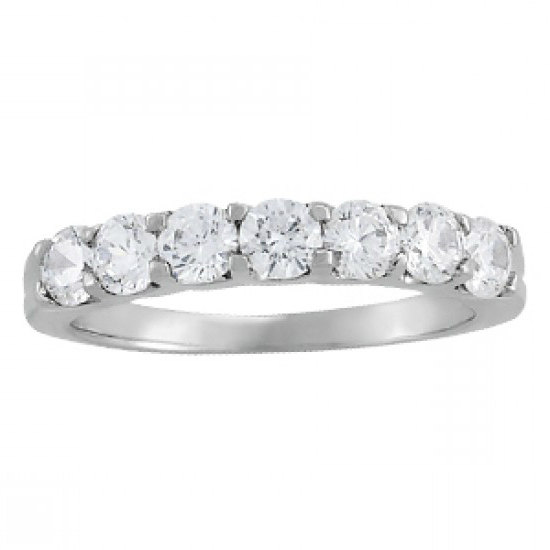 moissanite wedding rings bands australia canada uk usa 175 ct forever brilliant moissanite wedding band 14k white gold 7 stone ring wedding bands - Wedding Rings Bands