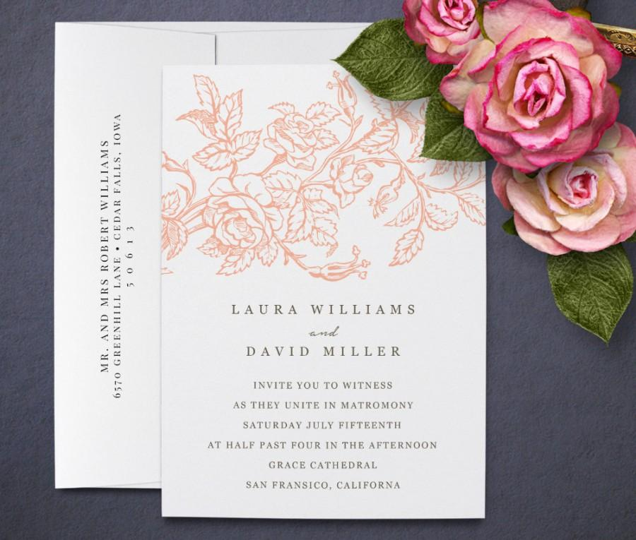 elegant wedding invitation template for word instant download