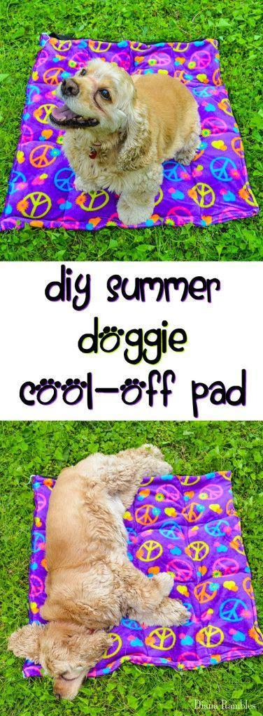 Свадьба - DIY Doggie Summer Cool-Off Pad Tutorial