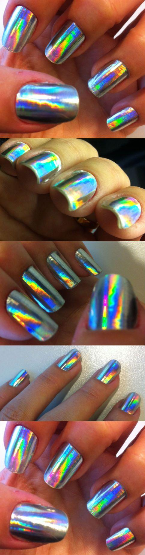 Hochzeit - Nails Of The Week - Silver Holographic Nail Foils