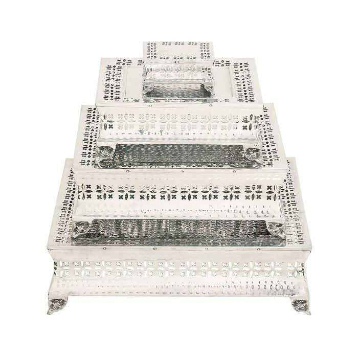 Hochzeit - Woodland Imports Simply Gorgeous Cake Stand 4 Piece Set