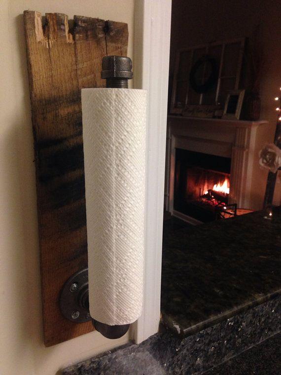 Rustic Industrial Towel Holder, Kitchen U0026 Bathroom Accessories, Paper Towel  Rack
