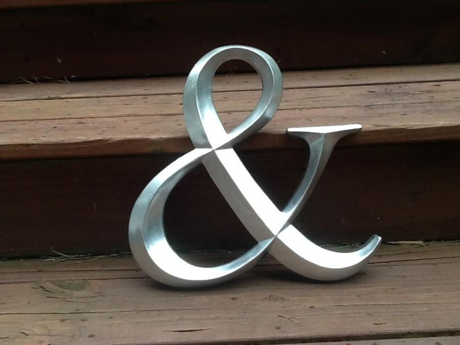 Mariage - Ampersand Sign Large Silver or Gold Engagement Photo Prop Wedding Picture Prop