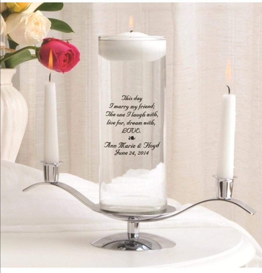 Mariage - Floating Unity Candle Set , Wedding Vase , Unity Candle Set , Unity Candle Set , Custom Unity Candle , Wedding Candle ,  Many Designs