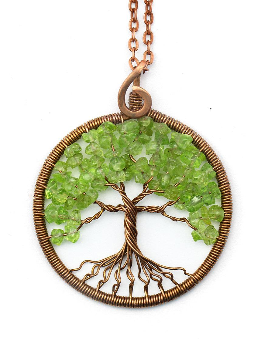 Tree of life necklace pendant tree of life jewelry family for What is the meaning of the tree of life jewelry