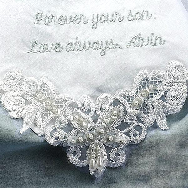 Hochzeit - Gift for Mother of the Groom Wedding Handkerchief