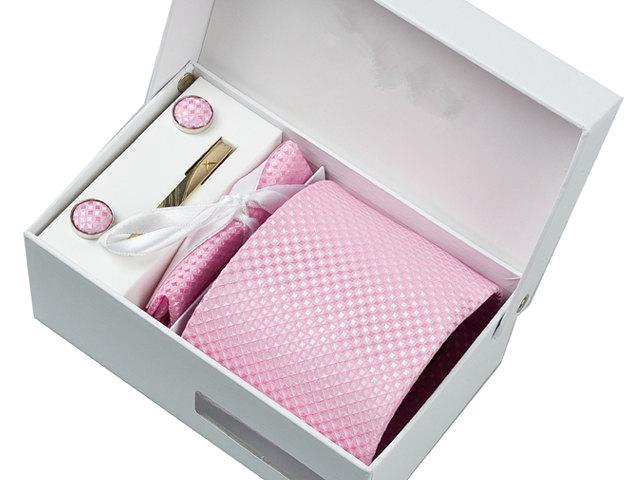 Hochzeit - Wedding Ties.Pink Neckties.Mens Ties.Weding Set.Including cufflinks.tie.tie clip. pocket square.Accessories Set.