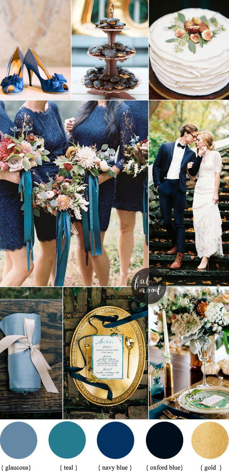 Mariage - Navy Blue And Maroon For A Romantic Autumn Wedding