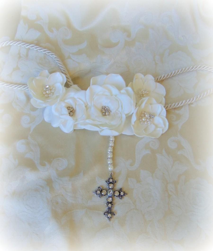Mariage - Wedding Laso, Custom Made Lazo de Boda, Floral Wedding Rope, Lasso de Boda de Flores, Recuerditos de Boda, Unique Wedding Laso