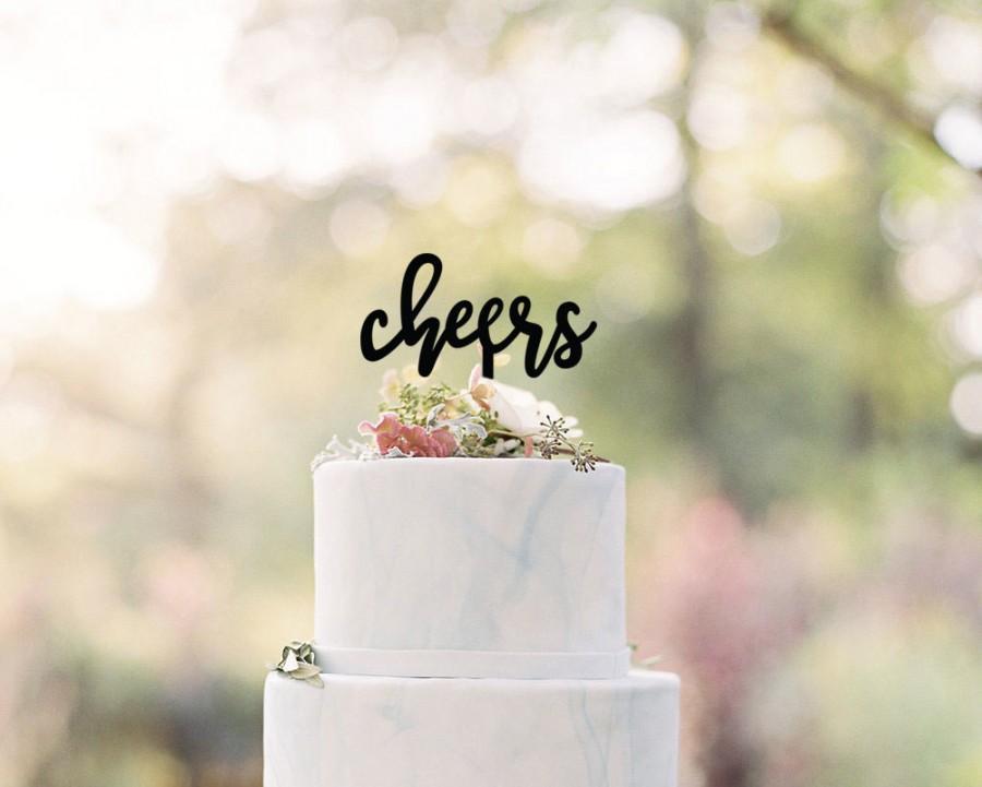Свадьба - Cheers Wedding Cake Topper
