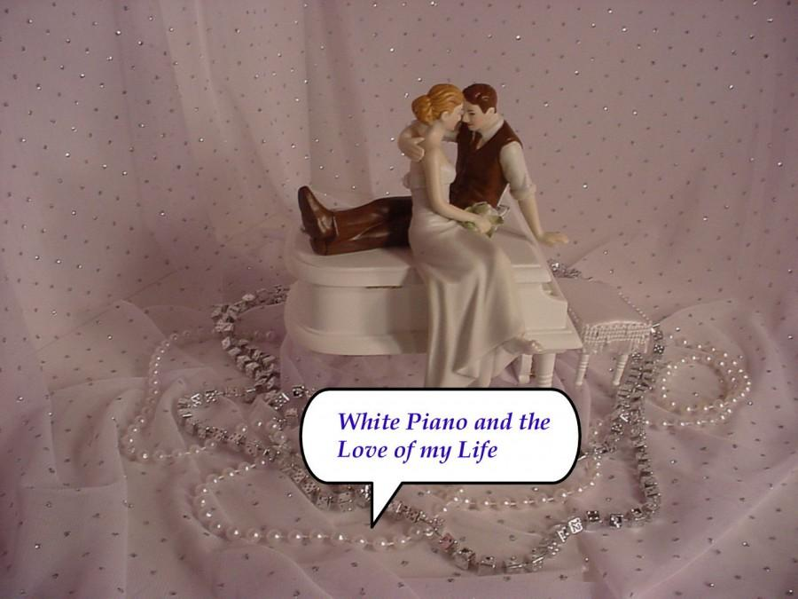 Свадьба - Baby Grand White  Piano Music lover Couple Look of Love I Got You Babe Musical Wedding Cake Topper Funny Classical Weddings Mr Loves Mrs