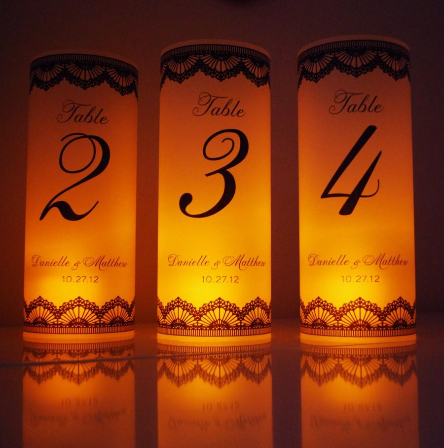 One Table Number Luminary