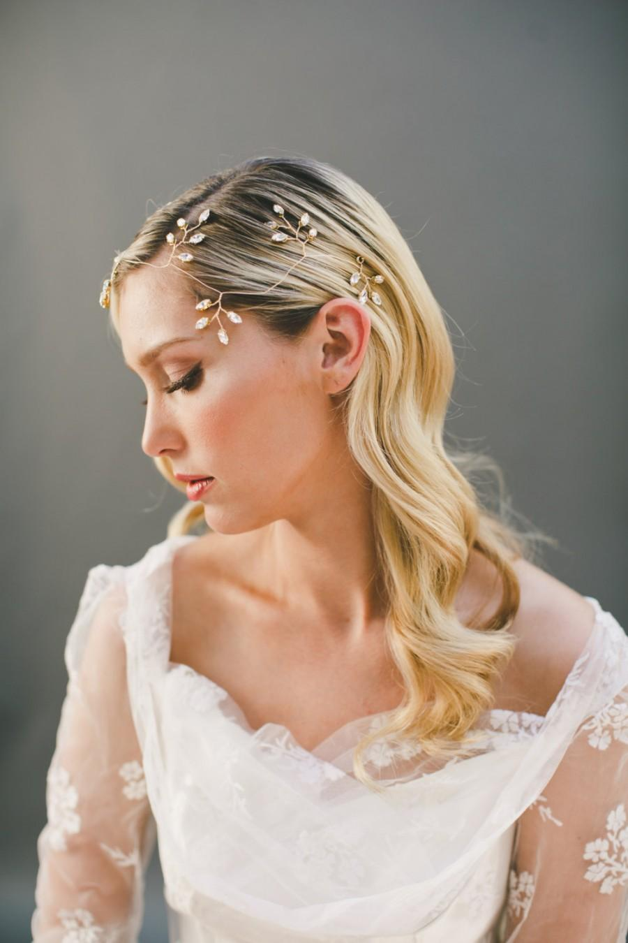 Grecian Hair Wreath Gold Leaf Hair Crown Ivy Vine Hair Halo 1920s