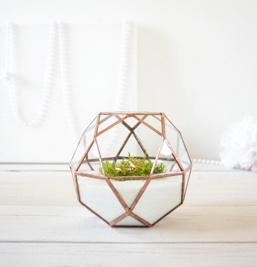 زفاف - Wedding Ring Holder - Wedding Ring Box - Wedding Decorations -  Stained Glass Terrarium