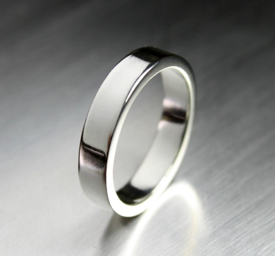 Mariage - Mens Wedding Band, Sterling Silver