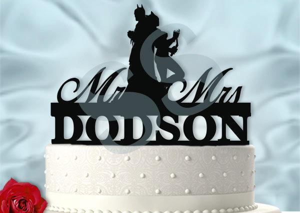 Mariage - Personalized Batman and Catwoman Wedding Cake Topper