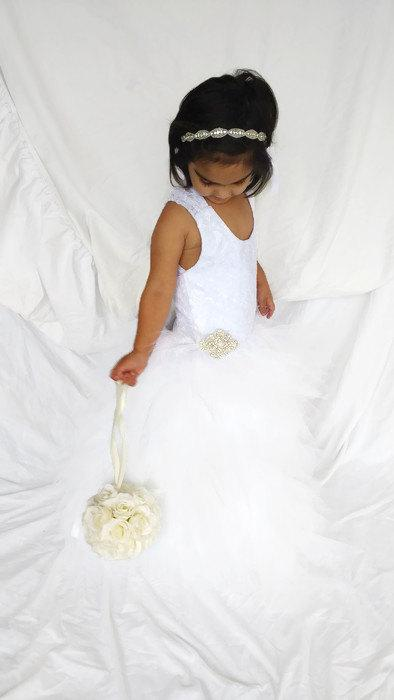 Mariage - The Perfet Elegant Lace FLower Girls Tulle Baby Christening  or Special Occassion Dress Customized to suit your Color Scheme