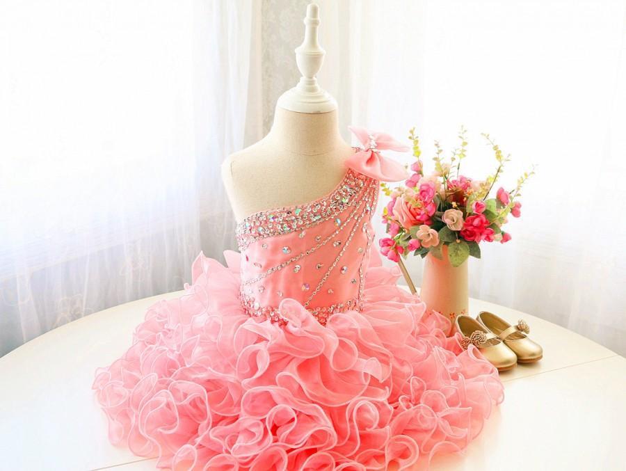 Mariage - Pink Toddler Performing Dress, Sleeveless Dancing Dress, Baby Easter Dress, Infant Baby Thanksgiving Dress, PD107