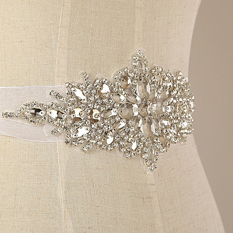 Mariage - handmade beading shining Rhinestone Wedding dress belt bridal accessories