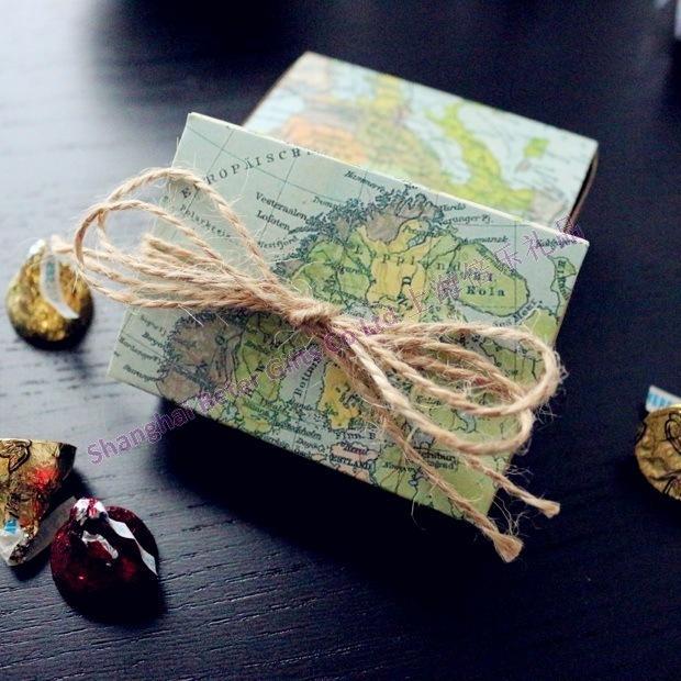 Свадьба - maps favor box Bachelorette bride BETER-TH031 Wedding Decor