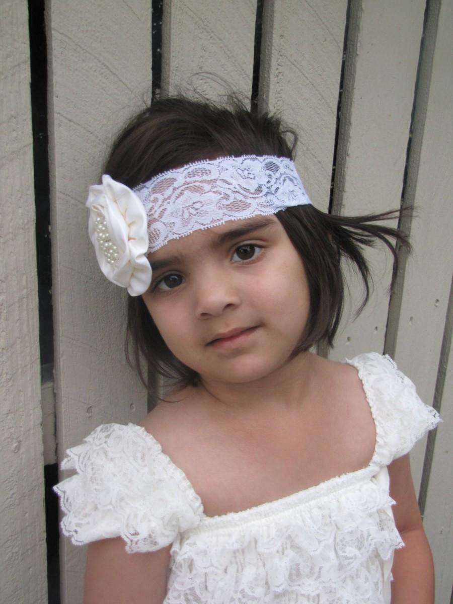زفاف - All that Lace Girls Ivory Lace Flower girl dress Vintage Style design Long Length