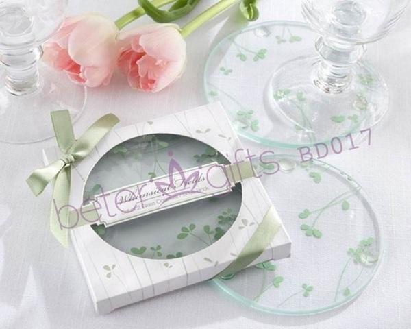 Mariage - 欧式婚庆用品 春季婚礼圆形杯垫,结婚用品 伴手回礼BD017倍乐婚品