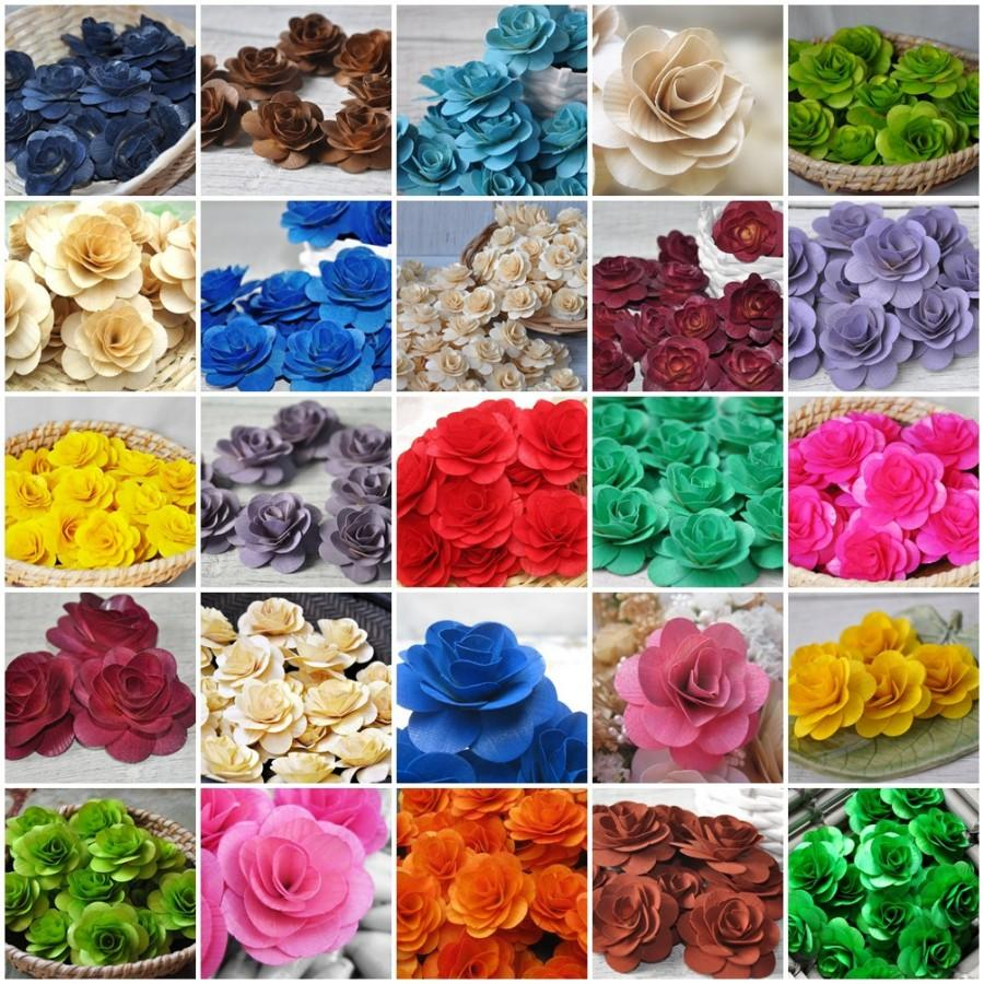 sample pack 12 pcs wooden roses for weddings home decorations