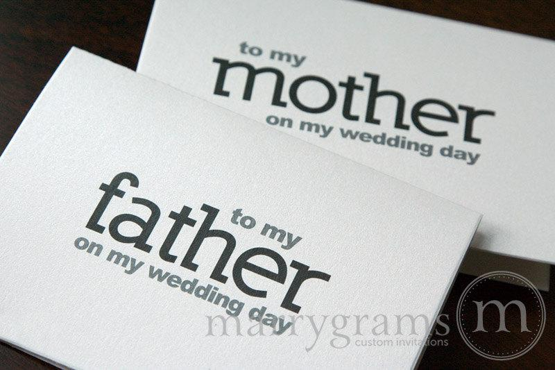 زفاف - Wedding Card to Your Mother and Father -Parents of the Bride or Groom Cards - Father and Mother of the Groom Gift On My Wedding Day