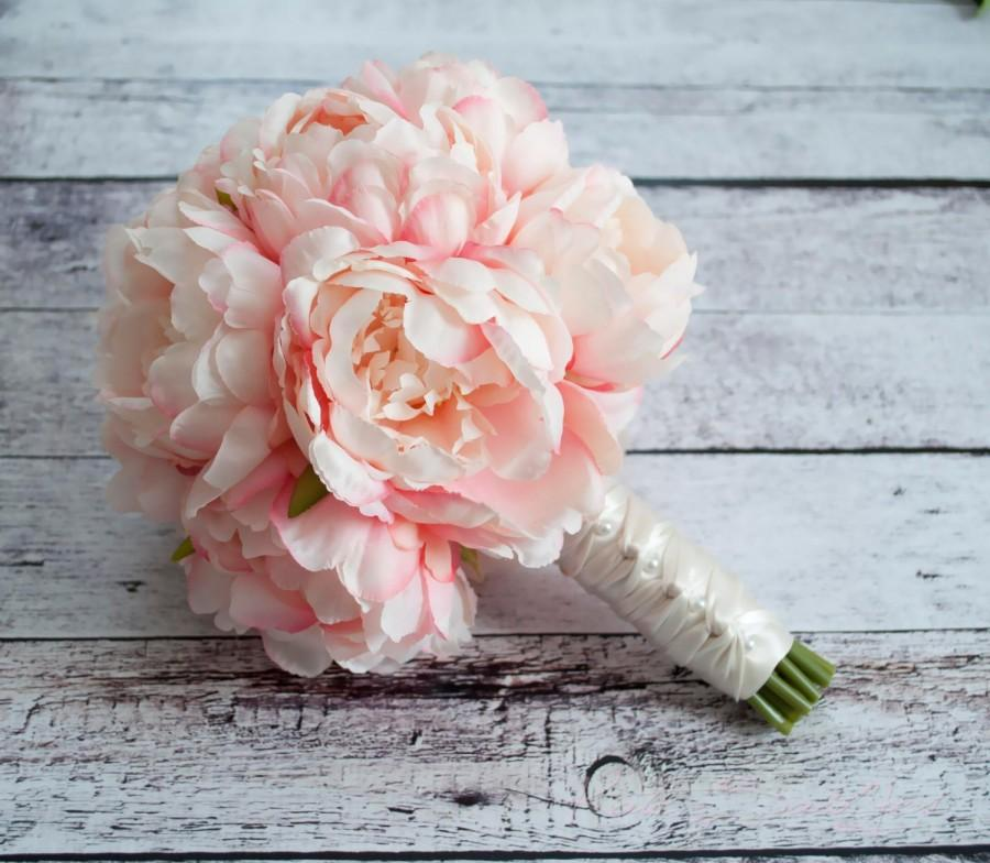 Wedding - Blush Pink Peony Bouquet