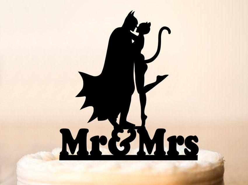 Batman Cake TopperBatman And Catwoman Cake TopperWeddings Batman