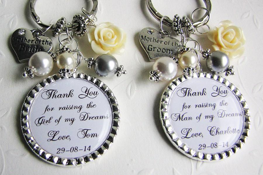 Set Of 2 Wedding Gifts Personalized Keychains Personalized Necklaces