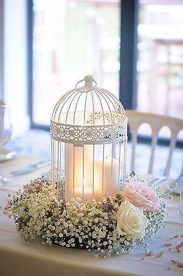 Wedding - Shabby Chic Wedding Decor - Birdcage Centrepieces