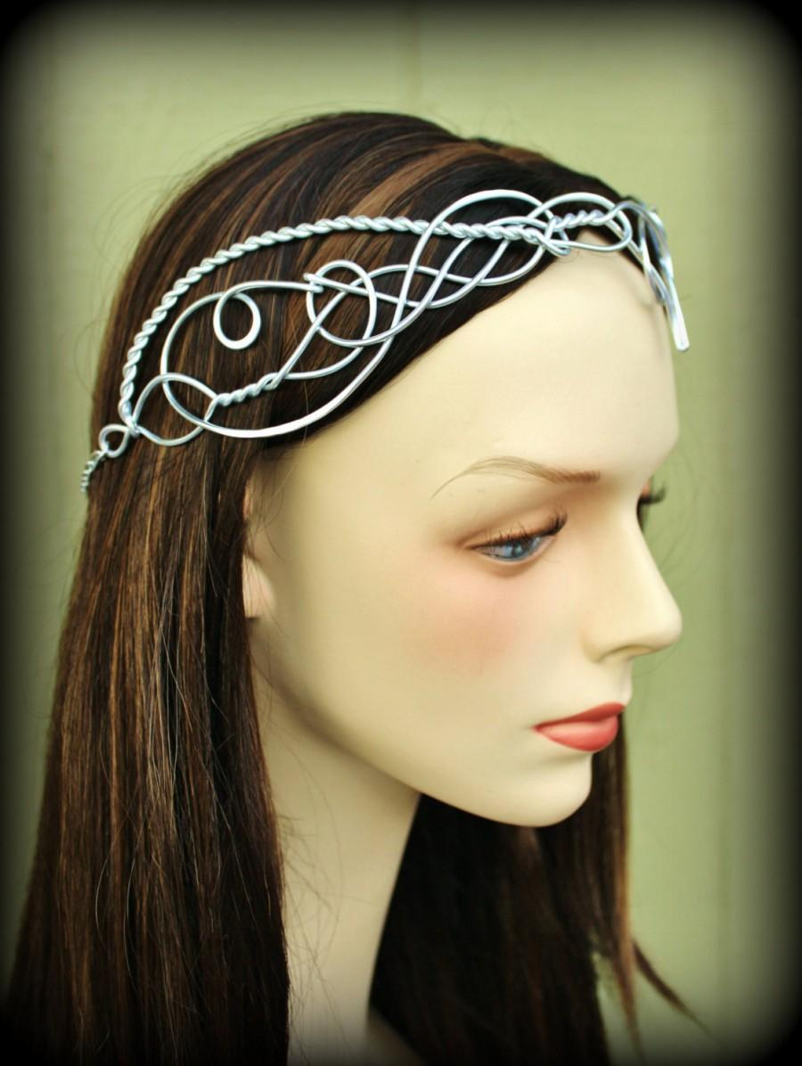 Свадьба - Elven Circlet VALINOR Celtic Hand Wire Wrapped - Choose Your Own COLOR - Crown Tiara