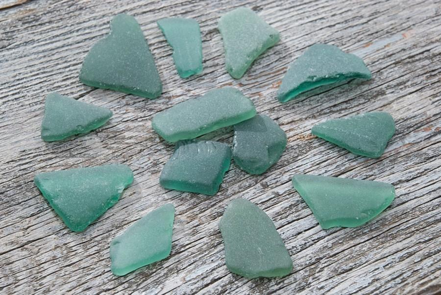 Teal sea glass turquoise sea glass authentic genuine surf for Craft mosaic tiles bulk
