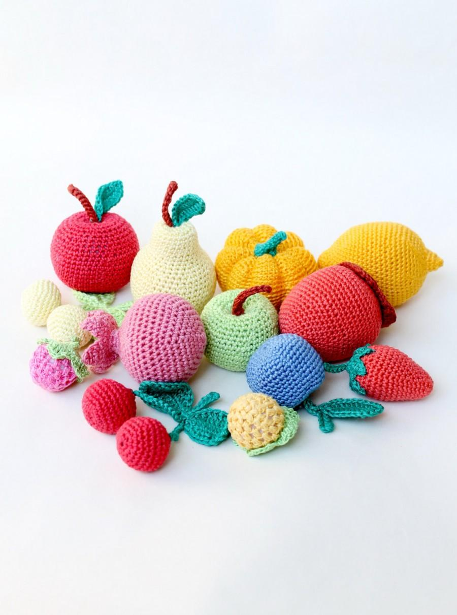 Soft Food Toys : Crochet fruits vegetables play food