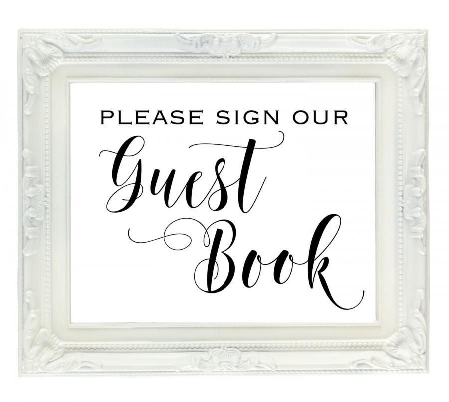 picture regarding Printable Guest Book named Visitor E-book Wedding day Indication, Be sure to Indication Our Visitor Ebook